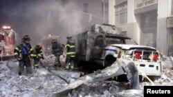 عکس آرشیوی از ویرانی های پس از حملات تروریستی ۱۱ سپتامبر ۲۰۰۱ در نیویورک