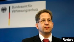 FILE - President of Germany's intelligence agency Verfassungsschutz Hans-Georg Maassen, Feb. 4, 2014. He says he wouldn't trust Facebook with his data.