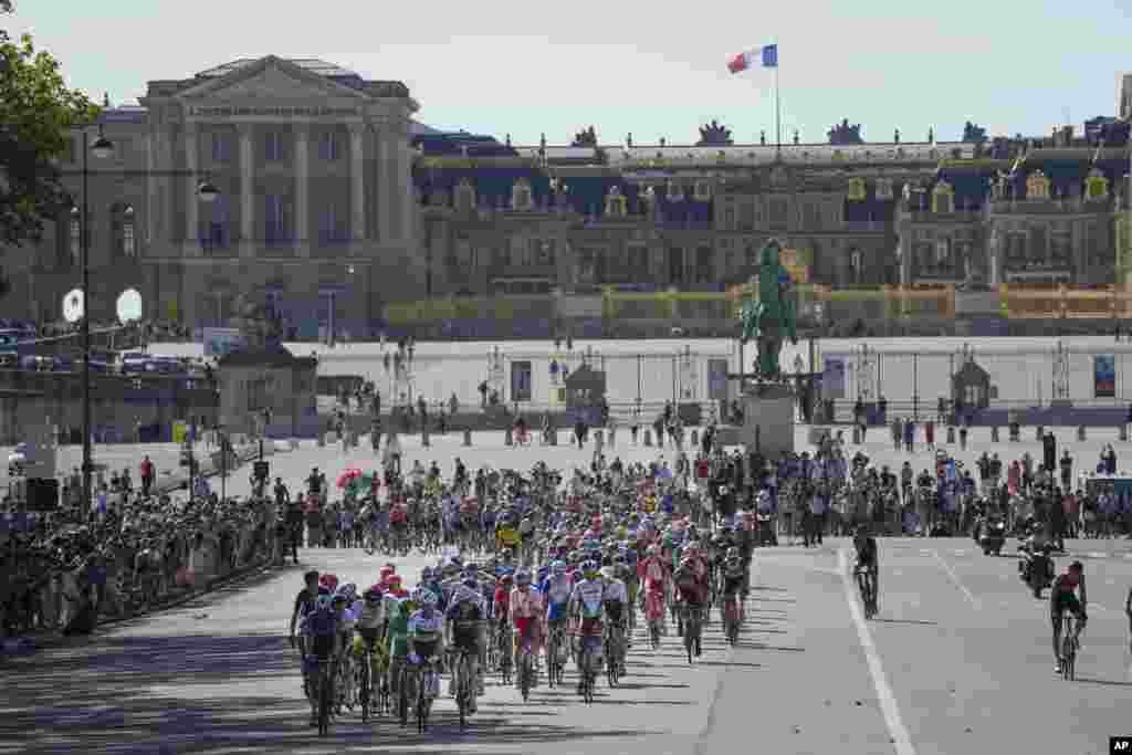 Poyga. Parij, Fransiya.