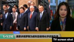 VOA连线(张蓉湘):美要求俄罗斯为叙利亚使用化学武器负责