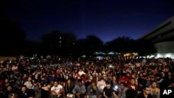 Захід вшанування пам'яті жертв стрілянини в Лас-Вегасі в Університеті Невади