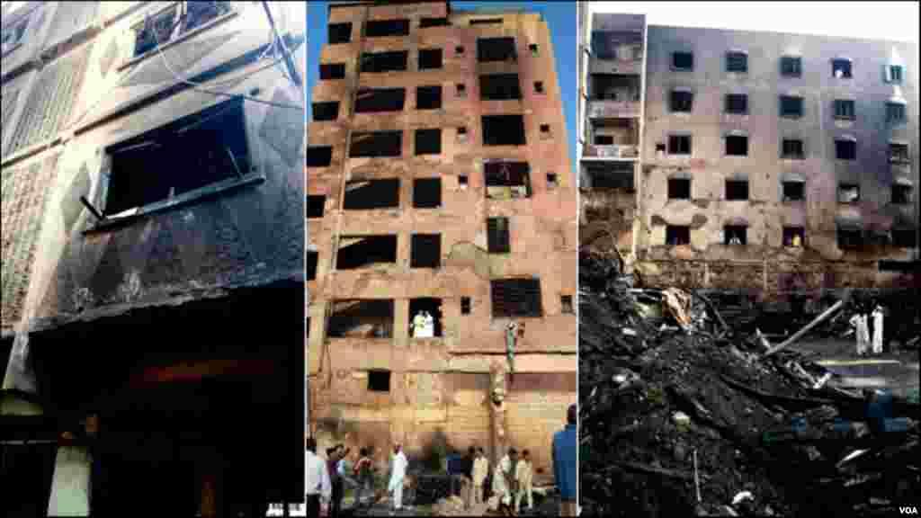 پرانی جاجی کیمپ کی ٹمبر مارکیٹ میں آگ سے بری طرح متاثر ہوجانے والی کچھ عمارات