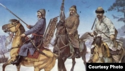 Татарские воины Великого княжества Литовского. Фрагмент иллюстрации