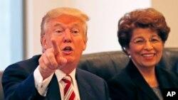 Jovita Carranza acompañó a Donald Trump durante su campaña.
