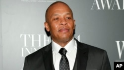 FILE - Dr. Dre attends the WSJ. Magazine 2014 Innovator Awards at MoMA in New York.