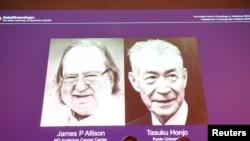 James P. Allison (esq) e Tasuku Honjo (dir)