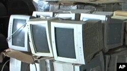 Les vieux ordinateurs, et autres gadgets, finissent très souvent en Afrique