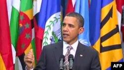 """Prezident Obama: """"ABŞ-ın siyasəti Qəzzafinin hakimiyyətdən getməsini tələb edir"""""""