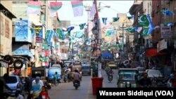 کراچی میں انتخابی سرگرمیاں (فائل فوٹو)