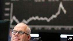 Thị trường chứng khoán Frankfurt của Đức trong một phiên giao dịch