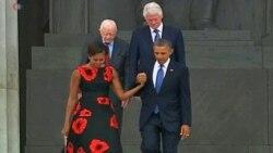 """Обама выступил на праздновании 50-летия """"Марша на Вашингтон"""""""