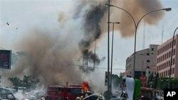 Désolation après un attentat à la bombe au Nigéria.
