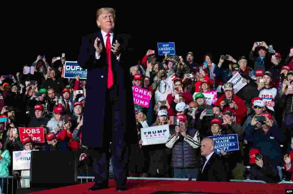 حضور پرزیدنت ترامپ در ایالت ویسکانسین در کمپین حمایت از نامزدان حزب جمهوریخواه در انتخابات میان دوره ای کنگره آمریکا
