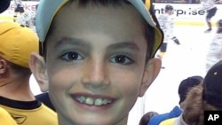 This undated photo provided by Bill Richard shows his son, Martin Richard, who was among the at least three people killed in the explosions at the finish line of the Boston Marathon, Apr. 15, 2013.