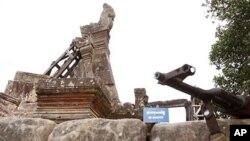 柬埔寨軍隊在柏威夏寺入口部署重型武器