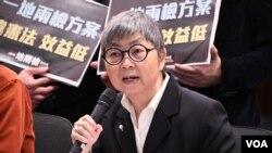 香港前立法會議員吳靄儀 (美國之音湯惠芸拍攝)