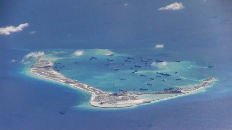 US Naval Vessel Sails Near Chinese-Held Reef in South China Sea