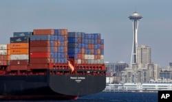 Nhiều hàng Trung Quốc nhập vào Mỹ qua cảng ở Seattle
