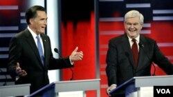 Según una encuesta, Obama estaría empatado con Romney y le ganaría a Gingrich.
