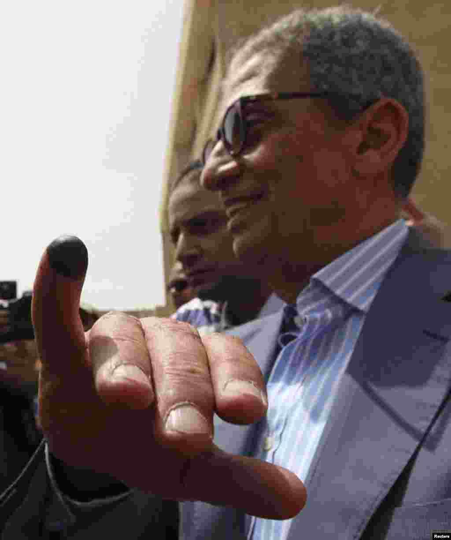 Predsednički kandidat Amr Musa.