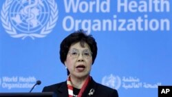 FILE - WHO Director-General Margaret Chan.