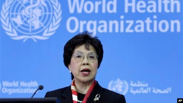 FILE - WHO Director-General Margaret Chan.