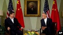 Tổng thống Barack Obama gặp Chủ tịch Trung Quốc Tập Cận Bình tại Sunnylands, Rancho Mirage, California, ngày 7/6/2013.