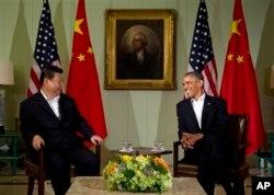 Tổng thống Obama gặp gỡ Chủ tịch Trung quốc Tập Cận Bình tại Sunnylands, California, 7/6/2013
