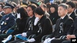 연평도 포격도발 3주기 행사에서 참석한 해병대 전사자 유족