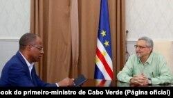 Ulisses Correia e Silva, primeiro-ministro (esq), e Jorge Carlos Fonseca, Presidente da República (dir), Cabo Verde