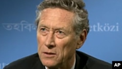 L'économiste en chef du FMI, Olivier Blanchard , présentait les dernières perspectives de l'économie mondiale ce mercredi