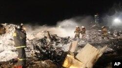 Poprište avionske nesreće u ruskom gradu Kazanu
