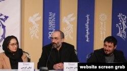 Niki Kərimi, Hadi Hicazifər və Cavad İzzəti Atabay filminin mətbuat konfransında