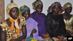 Wasu 'yan matan Chibok da suka kubuta.