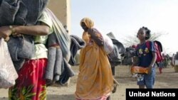 Eritrean refugees arriving at Kilo 26 refugee camp in eastern Sudan. (UNHCR)