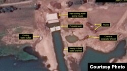지난 21일 북한 영변 핵시설을 촬영한 상업용 위성 사진. 38노스는 영변 핵시설의 새 냉각 시스템 개선 작업이 완료된 것으로 보인다고 분석했다. 사진출처=38NORTH