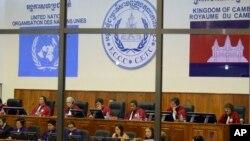 Suasana di ruang sidang pengadilan kejahatan perang Khmer Merah di Phnom Penh, Kamboja (Foto: dok).
