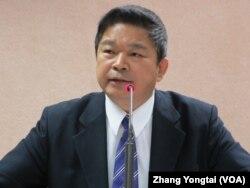 台湾在野党民进党立委 蔡煌琅(美国之音张永泰拍摄)