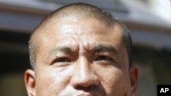 緬甸佛教僧侶甘比拉一月19日在仰光的照片