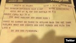 ٹیلی گرام کا متن