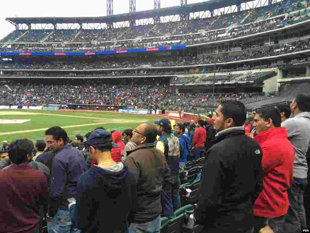 Cricket fans inside Citi Field, NY