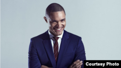 South African comedian Trevor Noah will take the helm from host Jon Stewart on the popular U.S. political satire program, The Daily Show. (Courtney photo, Comedy Central)
