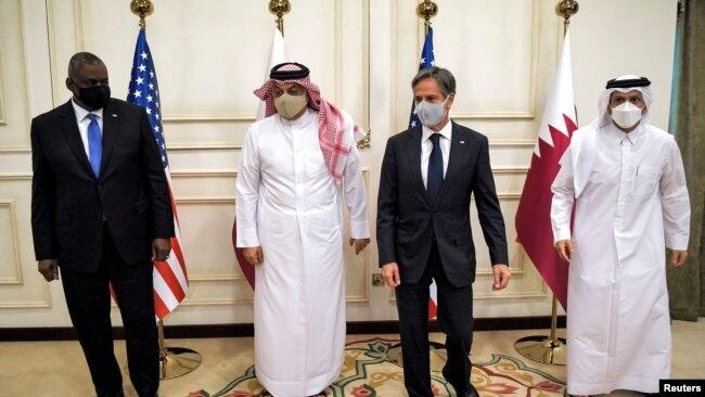 ABD Dışişleri Bakanı Antony Blinken ve Savunma Bakanı Lloyd Austin Katar'da yetkililerle görüştü.