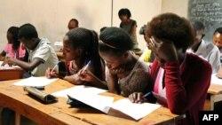 Marche des enseignants grévistes à Goma