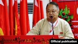 အာဏာရပါတီ NLD ဗဟိုအလုပ္အမႈေဆာင္အဖဲြ႔၀င္ အတြင္းေရးမွဴး ဦး၀င္းထိန္ (national league for democracy)