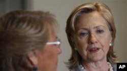 Državna tajnica Hillary Clinton obećala da će SAD pomoći Čileu 'na bilo koji način koji zatraži vlada te zemlje'