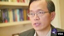 洛杉矶加州大学安德森管理学院经济学家俞伟雄(美国之音国符拍摄)