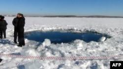 俄羅斯天降隕石民眾一片驚恐