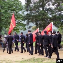中国各地的干部来井岗山受训