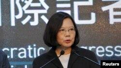 Tổng thống mới đắc cử của Đài Loan Thái Anh Văn kêu gọi các bên duy trì tự do hàng hải ở biển Đông.
